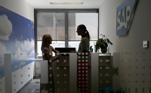 SAP Slovenija s svojimi rešitvami podpira največje poslovne sisteme v Sloveniji pa tudi številna mala in srednja podjetja. Foto Blaž Samec