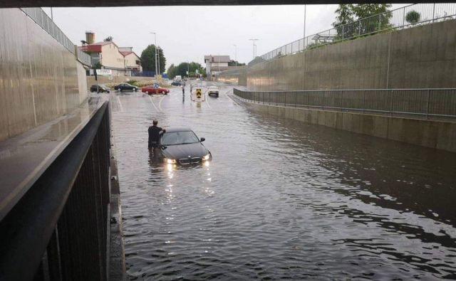 Poplava v Murski Soboti. FOTO: Oste Bakal/Delo