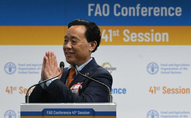 Qu, namestnik kitajskega ministra za kmetijstvo, je že pred današnjim glasovanjem veljal za favorita. FOTO: Vincenzo Pinto/AFP