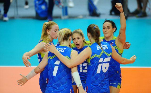 Slovenke se od blizu spogledujejo z zlato evropsko ligo. FOTO: Aleš Oblak
