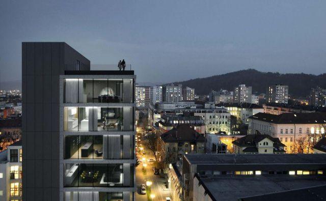 Na Kolodvorski v Ljubljani bodo zgradili hotel s 24 sobami in 19 luksuznimi stanovanji. Foto Arhitektura2211
