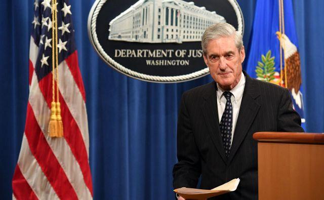 Posebni tožilec Robert Mueller na tiskovni konferenci po zaključku preiskave. FOTO:Mandel Ngan/Afp