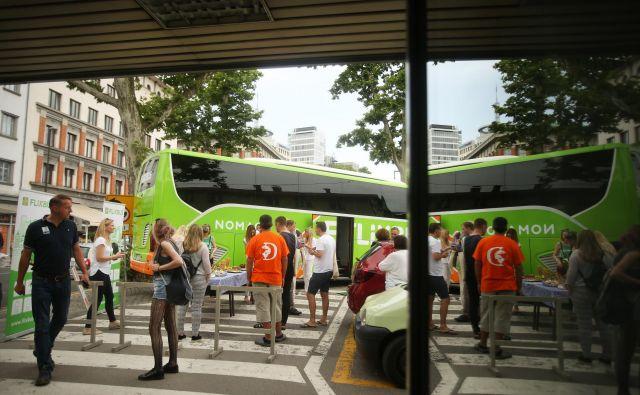 Ljubljana je pomembno križišče avtobusov hitro rastoče mreže Flixbus. FOTO Jure Eržen/Delo