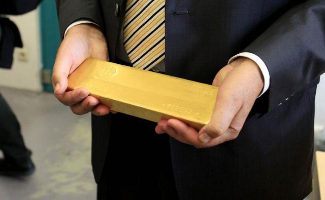 Cena zlata je spet presegla 1400 dolarjev za unčo. Foto Leon Vidic