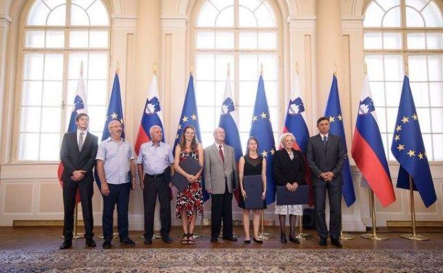 Nagrajeni prostovoljci pri predsedniku republike. FOTO: Urad predsednika republike