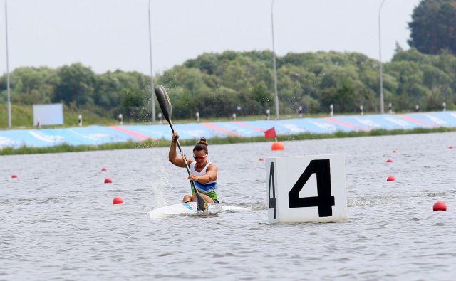 Anja Osterman je na evropskih igrah v Minsku za malo ostala brez kolajne. FOTO: Nina Jelenc/KZS