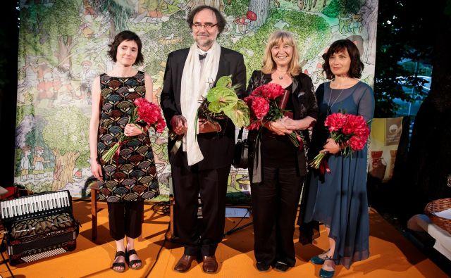 Levstikovi nagrajenci za leto 2019 (z leve): Ana Zavadlav, Boris A. Novak, Jelka Godec Schmidt in Anja Štefan FOTO: arhiv MKZ