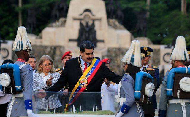 Načrt naj bi vključeval tudi umor predsednika Nicolása Madura. Foto: Reuters