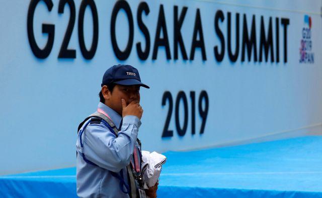 Voditelji najvplivnejših gospodarstev na svetu so pripotovali v Osako. FOTO: Reuters