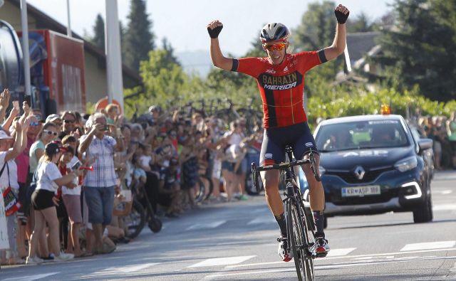 Domen Novak je slavil svojo prvo zmago med profesionalci. FOTO: Mavric Pivk/Delo