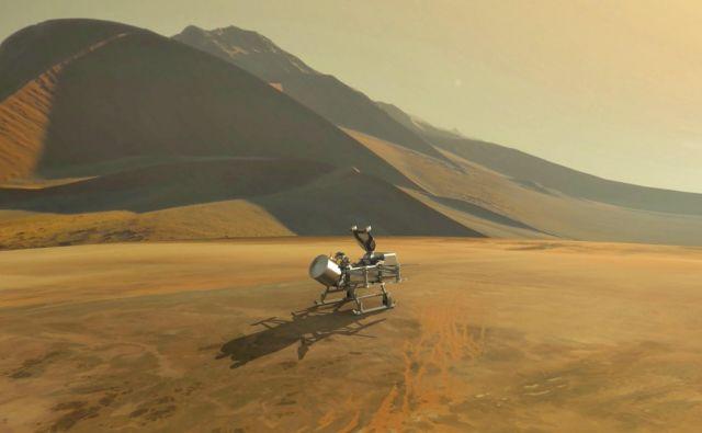 Dragonfly bo obiskal luno Titan. FOTO: Nasa