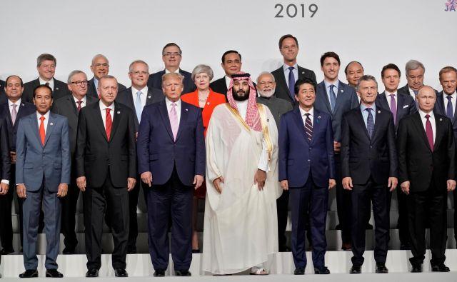 Vrhunsko srečanje G20, ki ga gosti Osaka, zaznamujejo številna dvostranska srečanja voditeljev. FOTO: Reuters