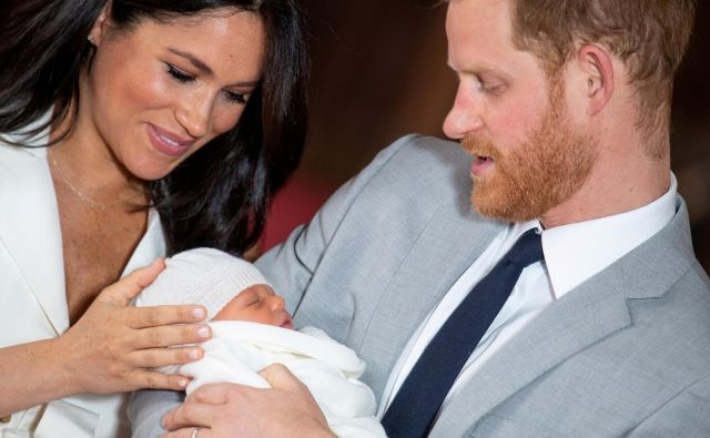 Meghan, Archie in Harry. FOTO: Reuters
