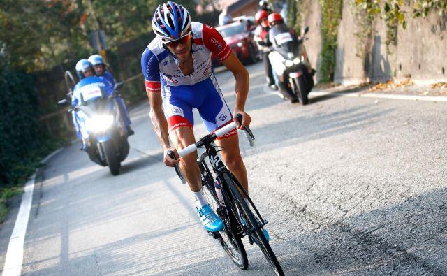 Thibaut Pinot je na kriteriju Dauphine pokazal, da pred Tourom prihaja v dobro formo, a Pinotov naskok na rumeno vedno ustavi (vsaj) en slab dan. Se mu bo letos izognil? FOTO: AFP