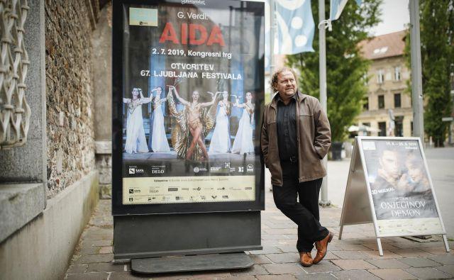 Direktor Festivala Ljubljana Darko Brlek je ena osrednjih kulturnih osebnosti v glavnem mestu, brez njega bi bilo tudi poletno dogajanje precej manj pestro.<br /> FOTO: Roman Šipić