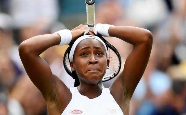 Coco Gauff je v svojem prvem nastopu na velikih slamih navdušila z neustrašnim pristopom in ugnala vzornico Venus Williams. FOTO: Reuters