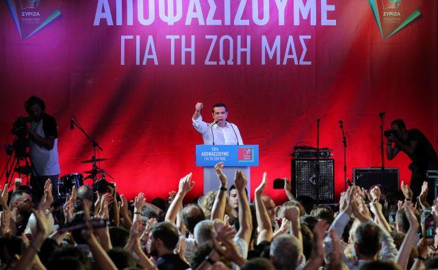 Sirizi premiera Aleksisa Ciprasa se na nedeljskih predčasnih volitvah obeta poraz. FOTO: Reuters