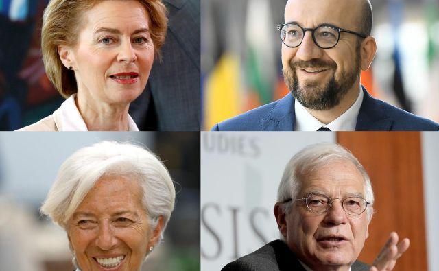 Ursula von der Leyen,Charles Michel, Christine Lagarde inJosep Borrell.Foto: Reuters