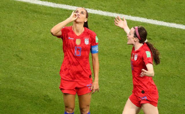 Alex Morgan se je takole veselila odločilnega gola. FOTO: Reuters