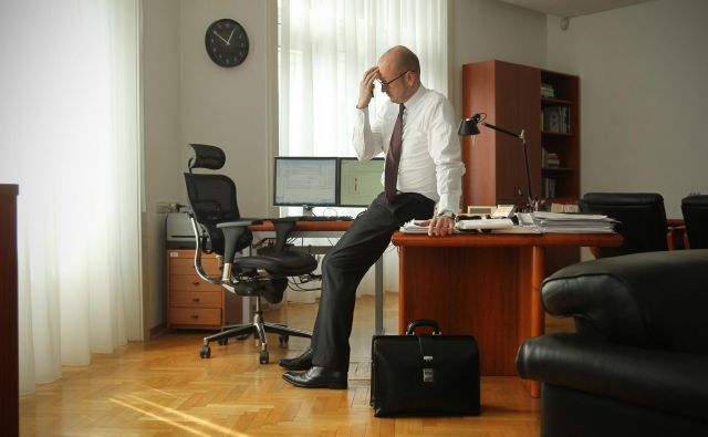 Boštjan Jazbec kot guverner Banke Slovenije in tudi kot osumljenec ni hotel sodelovati s preiskovalci. FOTO: Jure Eržen/Delo