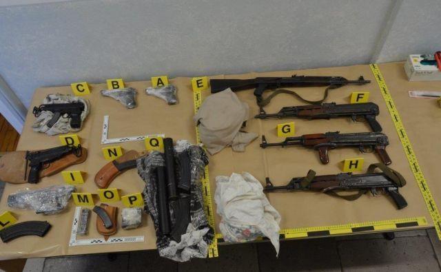 Najpogostejši cilji za prodajo orožja so bili Milano, Marseille in Barcelona. FOTO: Policija