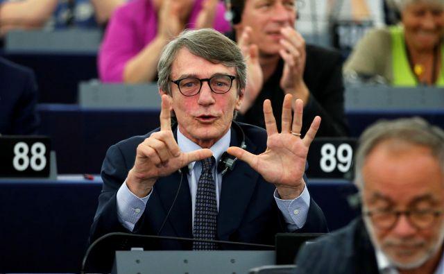 Italijanski demokrat Sassoli dolsej ni bil širše znan. Bil pa je podpredsednik parlamenta. FOTO: Vincent Kessler Reuters