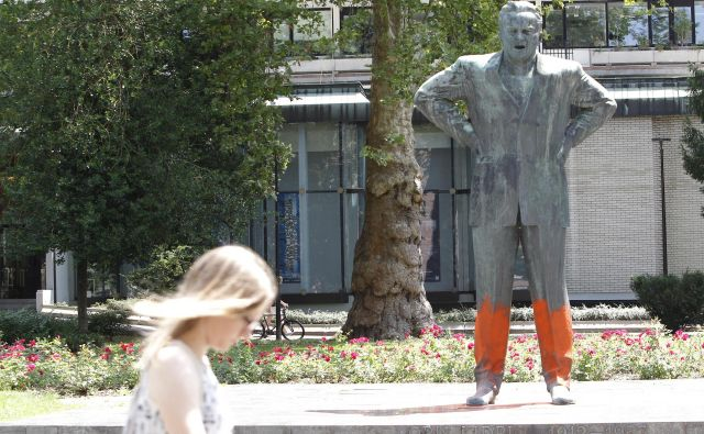 Kidričev spomenik, delo kiparja Zdenka Kalina. FOTO: Mavric Pivk/Delo