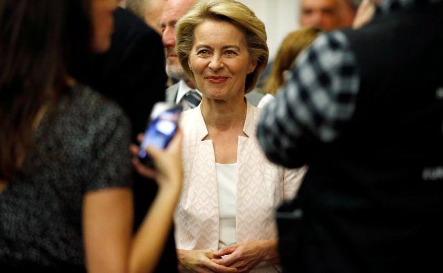 Zaradi kandidature Ursule von der Leyen v nemški veliki koaliciji vre. SPD grozi z odhodom. Foto: Reuters