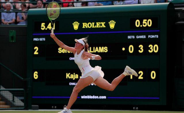 Kaja Juvan je bila takoj po dvoboju razumljivo razočarana, a se dobro zaveda, da se je odlično odrezala v dvoboju s Sereno Williams. FOTO: Reuters
