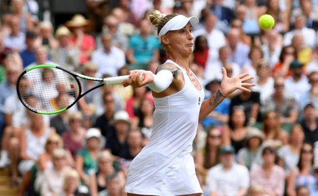 Polona Hercog bo poskušala iz bolečega poraza v 3. kolu Wimbledona odnesti čim več pozitivnega. FOTO: Reuters