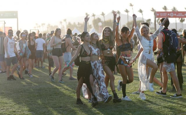 Utrinek s festivala Coachella. Foto: Reuters