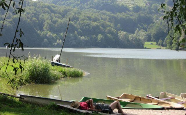 Mnogi se prihajajo odpočit ob jezero, turistov tu zagotovo ne bi manjkalo. FOTO: Špela Kuralt/Delo