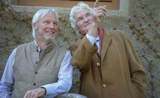 Arhitekta Richard Leplastier in Peter Stuchbury FOTO: Jože Suhadolnik
