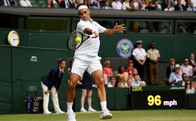 Roger Federer je v soboto dobil že 350. dvoboj na turnirjih za veliki slam. FOTO: Reuters