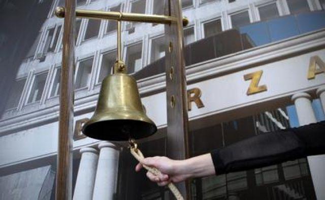 Ljubljana 30.11.2012 - Borzni zvonec na ljubljanski borzi.foto:Blaz Samec/DELO Foto
