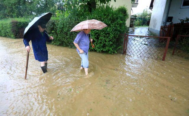 Neurje in poplave na Ptuju. FOTO: Sašo Bizjak/Večer