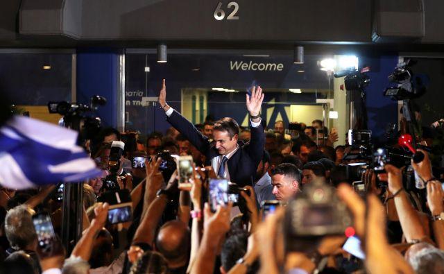 Na čelu grške vlade bo Aleksisa Ciprasa zamenjal Kiriakos Micotakis, dedič grške konservativne politične dinastije, ki je tesno povezan z vodilnimi oligarhi. FOTO: REUTERS/Alkis Konstantinidis