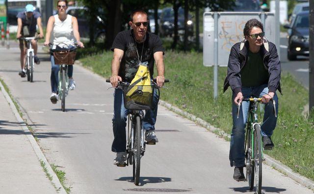 Dunajska cesta je kolesarsko ena najbolj obremenjenih vpadnic v prestolnici. Foto Marko Feist Slovenia
