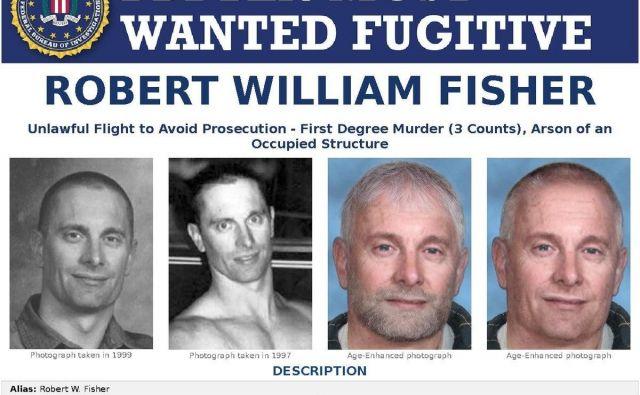 Na julijski lestvici FBI je najvišje morilec lastne žene in dveh otrok Robert William Fisher, za katerega ponujajo le 100.000 dolarjev. FOTO: Reuters