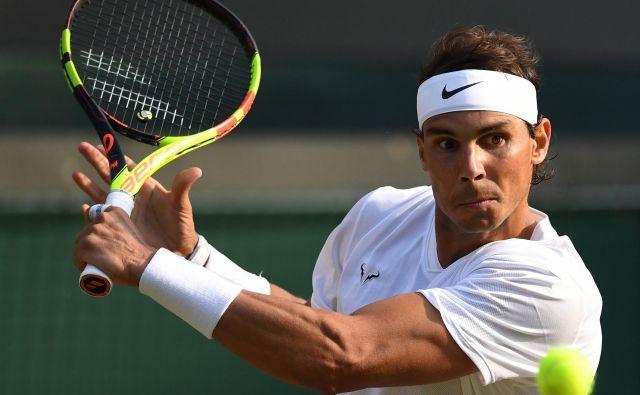 Rafael Nadal je v četrtfinalu odpravil Američana Sama Querreyja. FOTO: AFP