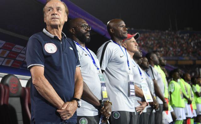 Nigerijski selektor Gernot Rohr je iz skupine neuveljavljenih posameznikov ustvaril močno nogometno enoto. Foto AFP