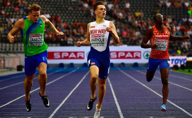 Luka Janežič je osvojil 4. mesto v teku na 400 metrov. Tekel je najhitreje letos (45,76), kljub temu pa norme za nastop na svetovnem prvenstvu v Dohi (45,30) še vedno ni izpolnil. FOTO: AFP