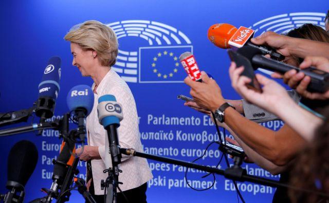 Ursula von der Leyen potrebuje za izvolitev absolutno večino vseh poslancev. Foto Reuters
