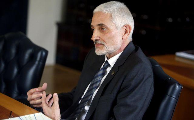 Predsednik vrhovnega sodišča Damijan Florjančič je pozval predsednika vlade, da je čas, da se uredi prostorska stiska ljubljanskih sodišč. FOTO: Roman Šipić/Delo