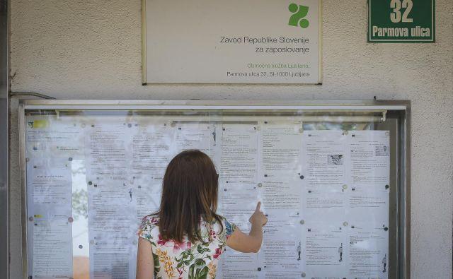 Najnižje nadomestilo za brezposelnost naj bi bilo po novem 530 evrov bruto, najvišje pa ostaja 892. Foto Jože Suhadolnik