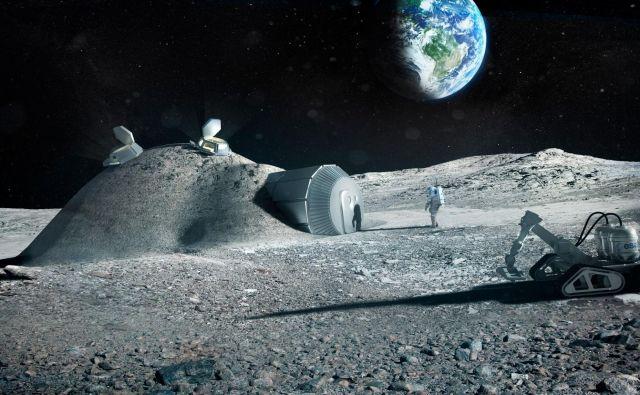 Luna je z vidika rudarjenja zanimiva predvsem zaradi helija 3 in redkih zemelj. FOTO: ESA