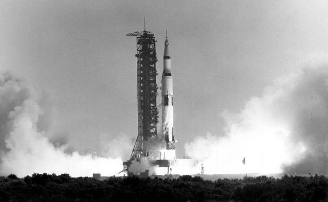 Izstrelitev rakete Saturn V 16. julija 1969. FOTO: NASA / AFP