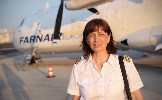 Mirjana Fritsche Ivanović prave pilotske službe v takratni Jugoslaviji ni dobila. FOTO: Jure Eržen