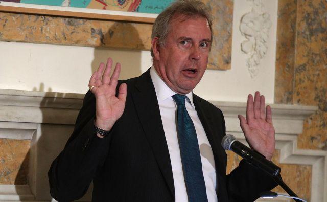Nekdanji britanski veleposlanik v ZDA sir Kim Darroch. FOTO: Alex Wong/AFP