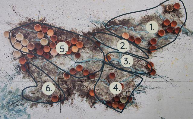 Zemljevid, narejen v okviru Kataloga slovenskih glin. Foto Simona Fajfar